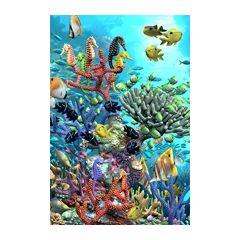 3d ansichtkaart - lenticulaire kaart met 2 afbeeldingen - koraal en schildpadden