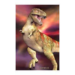 3d ansichtkaart - lenticulaire kaart met 2 afbeeldingen - dinosaurus t-rex