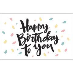 verjaardagskaart - happy birthday to you