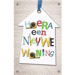 felicitatiekaart  - hoera een nieuwe woning
