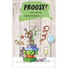 verjaardagskaart - proost op jouw verjaardag