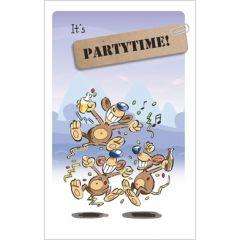 felicitatiekaart - it s partytime!