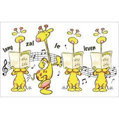 verjaardagskaart - lang zal je leven - giraffe