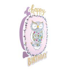 3d wenskaart paper dazzle - happy birthday - uil