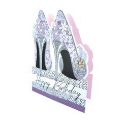 3d wenskaart paper dazzle - happy birthday - pumps