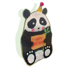 3d wenskaart paper dazzle - happy birthday - panda