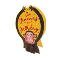 3d wenskaart paper dazzle - go bananas on your birthday - aap