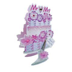3d wenskaart paper dazzle - happy wedding day - trouwtaart