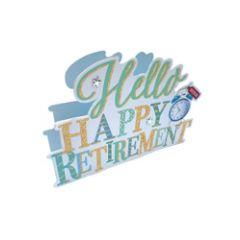 3d wenskaart paper dazzle - hello happy retirement