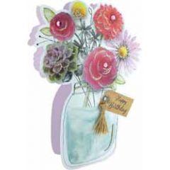 3d verjaardagskaart paper dazzle - happy birthday - bos bloemen