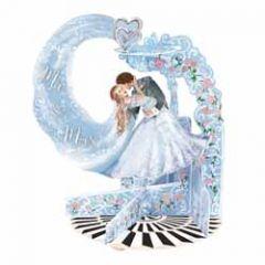 3d trouwkaart - pendulum - mr. & mrs. - bruidspaar