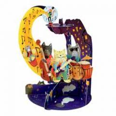3d kaart - pendulum - jazz katten