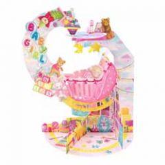 3d geboortekaart - pendulum - baby girl