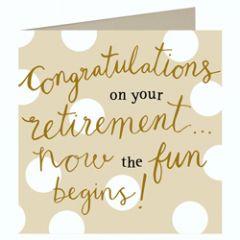 grote wenskaart pensioen caroline gardner - congratulations on your retirement