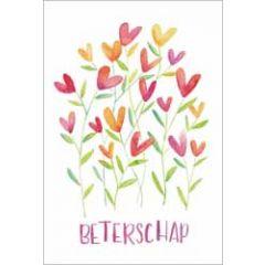 wenskaart dreams - beterschap - bloemen