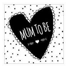 zwangerschapskaart  piano handwriting - mum to be