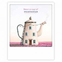 ansichtkaart instagram pickmotion - have a cup of positivitea