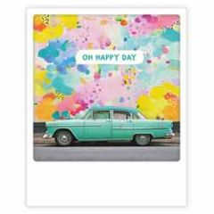 ansichtkaart instagram pickmotion - oh happy day - auto