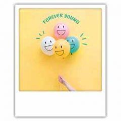 ansichtkaart instagram pickmotion - forever young - ballonnen