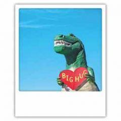 ansichtkaart instagram pickmotion - big hug - dinosaurus