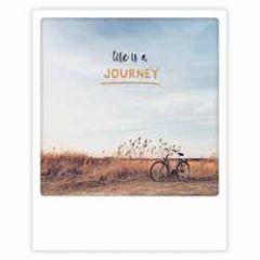 ansichtkaart instagram pickmotion - life is a journey - fiets