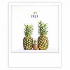 ansichtkaart instagram pickmotion - hey baby - ananassen en kiwi