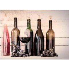 ansichtkaart - wijn en druiven