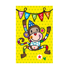 6 uitnodigingskaarten met envelop - tata