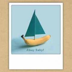ansichtkaart instagram pickmotion - ahoy baby - bananenboot
