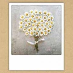 ansichtkaart instagram pickmotion - sorry - boeketje bloemen