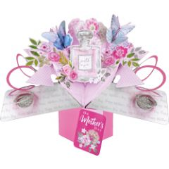 3D moederdagkaart - pop ups - with love on mother's day - parfum