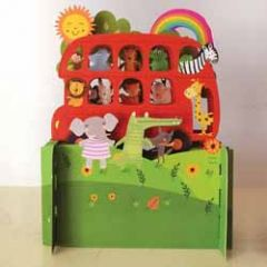 3d pop up kinderkaart - bus