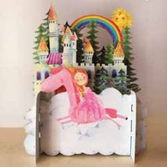 3d pop up kinderkaart - prinses