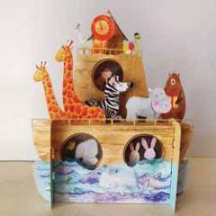 3d pop up kinderkaart - ark van noach