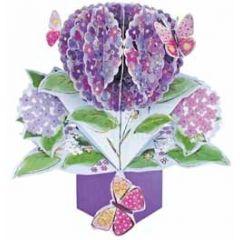 3D wenskaart - pop ups - hortensia