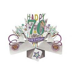70 jaar - 3D kaart - pop ups - happy 70th birthday