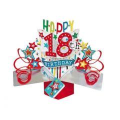 18 jaar - 3D kaart - pop ups - happy 18th birthday