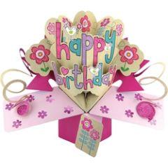 3D verjaardagskaart - pop ups - happy birthday