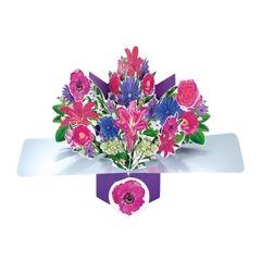 3D wenskaart - pop ups - bloemen