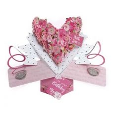 3D verjaardagskaart - pop ups - with love on your birthday - bloemen