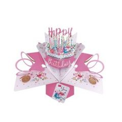 3D verjaardagskaart - pop ups - happy birthday to you - kaarsjes