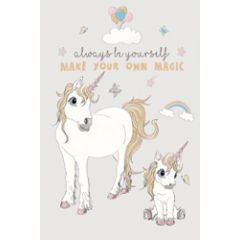 poster a4 mouse and pen  - always be yourself make your own magic - eenhoorn