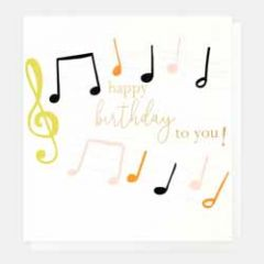 verjaardagskaart caroline gardner - happy birthday to you! - notenbalk muziek
