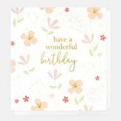 verjaardagskaart caroline gardner - have a wonderful birthday - bloemen