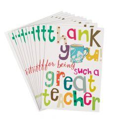 10 wenskaartjes caroline gardner - thank you for being such a great teacher