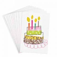 10 felicitatiekaartjes caroline gardner - taart