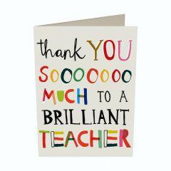 10 wenskaartjes caroline gardner - thank you sooooooo much to a brilliant teacher