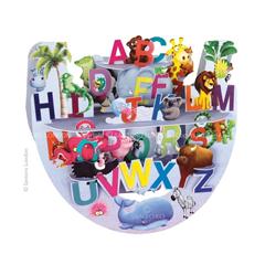 3D kaart - schommelkaart popnrock: alfabet