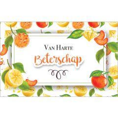 beterschapskaart - van harte beterschap - fruit