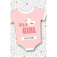 geboortekaartje - it's a girl - gefeliciteerd